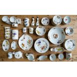A LARGE COLLECTION OF ROYAL WORCESTER FRUIT DECORATED TABLE WARE