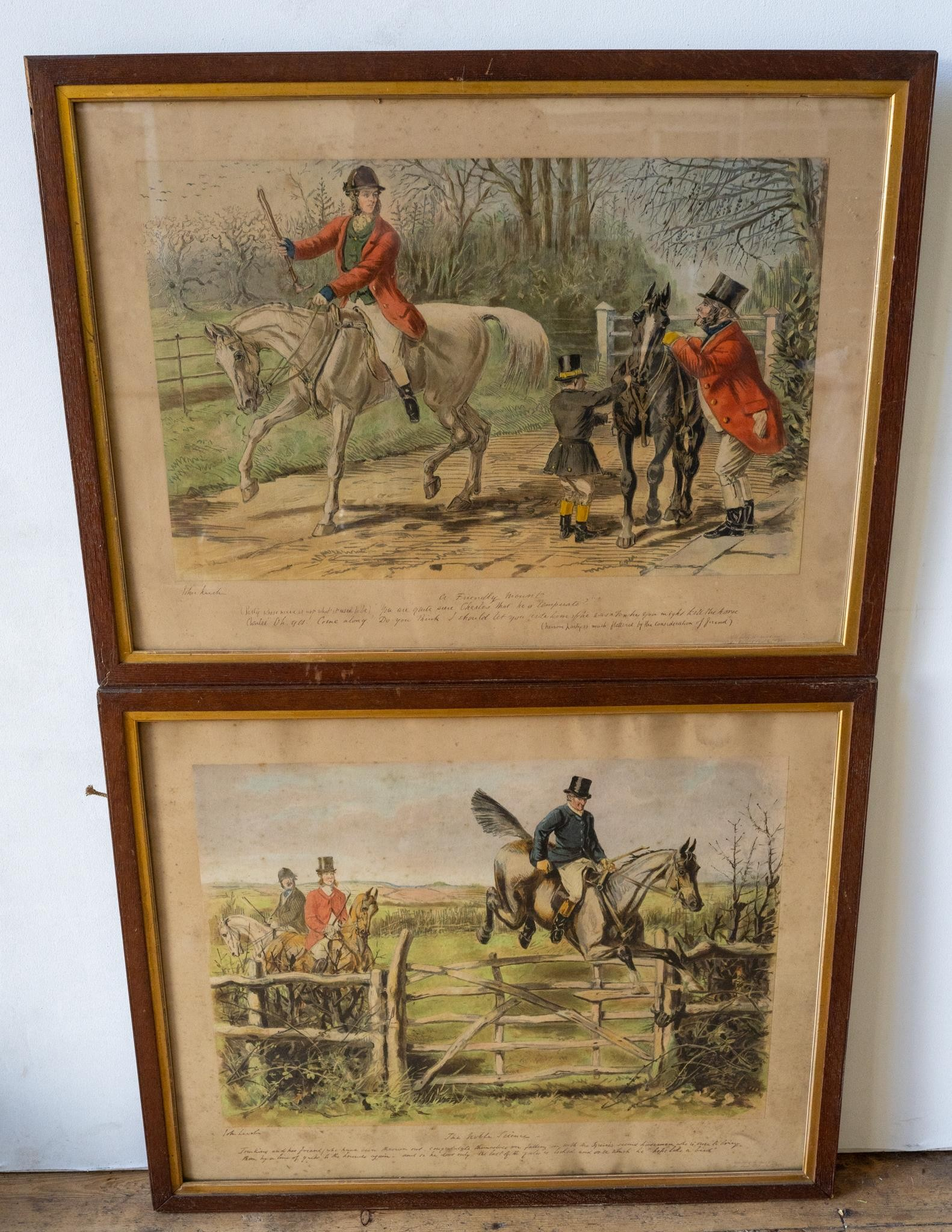 AN OAK FRAMED VICTORIAN PRINT 'A FOXHUNTER'S DREAM' AND FIVE OTHER COUNTRY PURSUITS PRINTS PRINTS, - Image 3 of 4