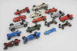COLLECTION OF MODEL RACING CARS from the 1960s to 1970s from Dinky and Corgi, makes include Ferrari,