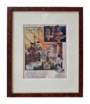 BREVES GALLERIES BRITANNIA DEC. 1929 MAGAZINE ADVERTISEMENT FOR LALIQUE LONDON 48.5 cm x 37.5 cm