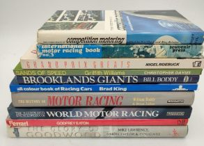 COLLECTION OF MOTORSPORT ORIENTATED BOOKS from the 1950s to the present day (10)