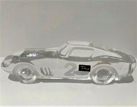 DAUM FERRARI 275 DESK PIECE Produced by maker Daum in crystal and depicting the Ferrari 275