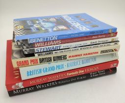 COLLECTION OF SEVEN FORMULA ONE BOOKS, also five copies of Autocourse 2003 / 2004, and five copies