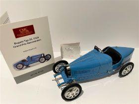 CMC BUGATTI Type 35 GRAND PRIX 1:18 SCALE Authentic recreation of Bugatti's technical masterpiece.