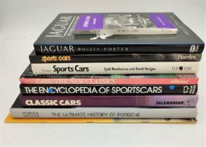 SELECTION OF GENERAL SPORTING MOTORING BOOKS including Porsche, Jaguar (9)
