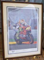 """FLOWER POWER"" PRINT BY RAY GOLDSBOROUGH (186/395) 500cc MotoGP World Champion Valentino Rossi"