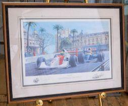 DICING AT CASINO BY TONY SMITH (89 / 750) LIMITED EDITION PRINT of the 50th Grand Prix de Monaco