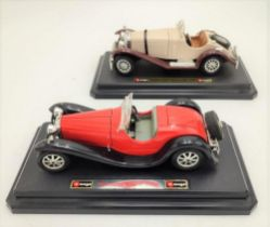 1/24TH SCALE MODELS BY BURAGO OF BUGATTI TYPE 55 AND MERCEDES SSK (2)