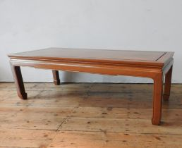 AN ANGLO-CHINESE ROSEWOOD KANG TABLE, produced in Hong Kong in the mid 1960's, superb condition, 40