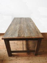 A CONTEMPORARY STRETCHER BAR INDUSTRIAL STYLE RUSTIC KITCHEN TABLE, repurposed from a Lush Store, 77