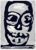 Walter Dahn St.Tönis 1954 - lebt in Köln Ohne Titel (Maske). Gouache. 1986. 14,6 x 10,5 cm.