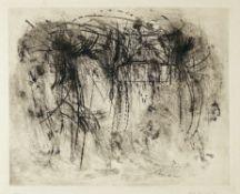 Peter Brüning Düsseldorf 1929 - 1970 Ratingen Ohne Titel. Radierung. 1959. 39,8 x 48,5 cm (54 x 75,
