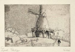 Lyonel Feininger New York 1871 - 1956 New York Alte Windmühle. Radierung. 1911. 13,8 x 21,3 cm (24,