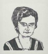Max Beckmann Leipzig 1884 - 1950 New York Bildnis Frau H. M. (Naila). Holzschnitt. 1923. 34,7 x 32,