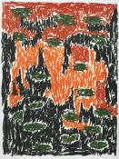 Günther Förg Füssen 1952 - 2013 Freiburg i.B. Ohne Titel. Farb. Lithographie. 1994. 78 x 58 cm.
