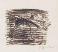 Ernst Barlach Wedel 1870 - 1938 Rostock Gang im Schatten. Lithographie. 1922. 12,2 x 15,5 cm (44 x