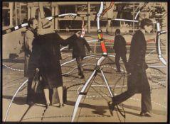 Peter Brüning Düsseldorf 1929 - 1970 Ratingen Komposition 8/67 – Straßenszene. Acryl über
