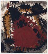 Gunter Damisch Steyr 1958 - 2016 Wien Ohne Titel. Tempera auf Papier. 1994. 44,5 x 38,5 cm.