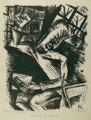 Conrad Felixmüller Dresden 1897 - 1977 Berlin Soldat im Irrenhaus (II). Umdrucklithographie. 1918.