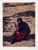 Peter Doig Edinburgh 1959 - lebt auf Trinidad Figure by a River. Farbradierung. 2004. 20 x 14,7