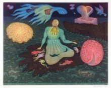 Arik Brauer Wien 1929 - 2021 Wien The Proverbs of King Solomon. 12 farb. Aquatintaradierungen.