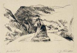 Lovis Corinth Tapiau 1858 - 1925 Zandvoort Tiroler Landschaft. Lithographie. 1911. 24,5 x 36,7 cm (