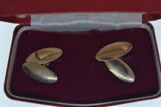 Pair of 9ct gold cufflinks, gross weight 3.27 grams