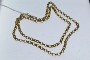 9ct gold belcher neck chain, circumference 600mm, 17.6 grams