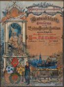 Willich, A., um 1900 tätig in HamburgGedenkblatt zur Erinnerung an das 25-jährige Geschäft