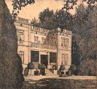 """Wedepohl, Gerhard""""Herrenhaus Richardson auf Gut Fuchsberg"""" (Rauchs Landgut, Bremen). Radierun"""