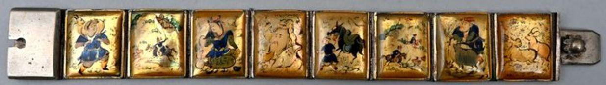 Armband mit figurativer Gestaltung, asiatischer RaumMetall, Keramik verschließbar, Sammlernu