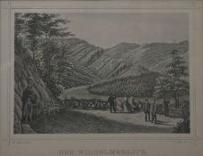 Schule, Albert. 1801-1875 LeipzigWilhelmsblick - Bodetal im Harz. Stahlstich, um 1840, Kolori