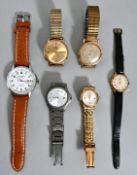Konvolut von 6 Armbanduhren, Herren und Damen, Mitte-2. H. 20. JH.Diverse Hersteller (Madison