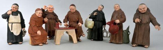 Gruppe von sieben Klosterbrüdern, wohl Thüringen/ Gräfenthal, Carl Schneider's Erben, Ende