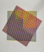 Ostdeutscher Künstler, 2. H. 20. Jh.O.T. Abstrakte Komposition. 1987. Farbsiebdruck, sign.,