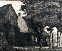 """Wedepohl, Gerhard""""Bauernhaus auf Föhr"""". Radierung, sign., betitelt, zusätzl. i. d. Pl. sign"""