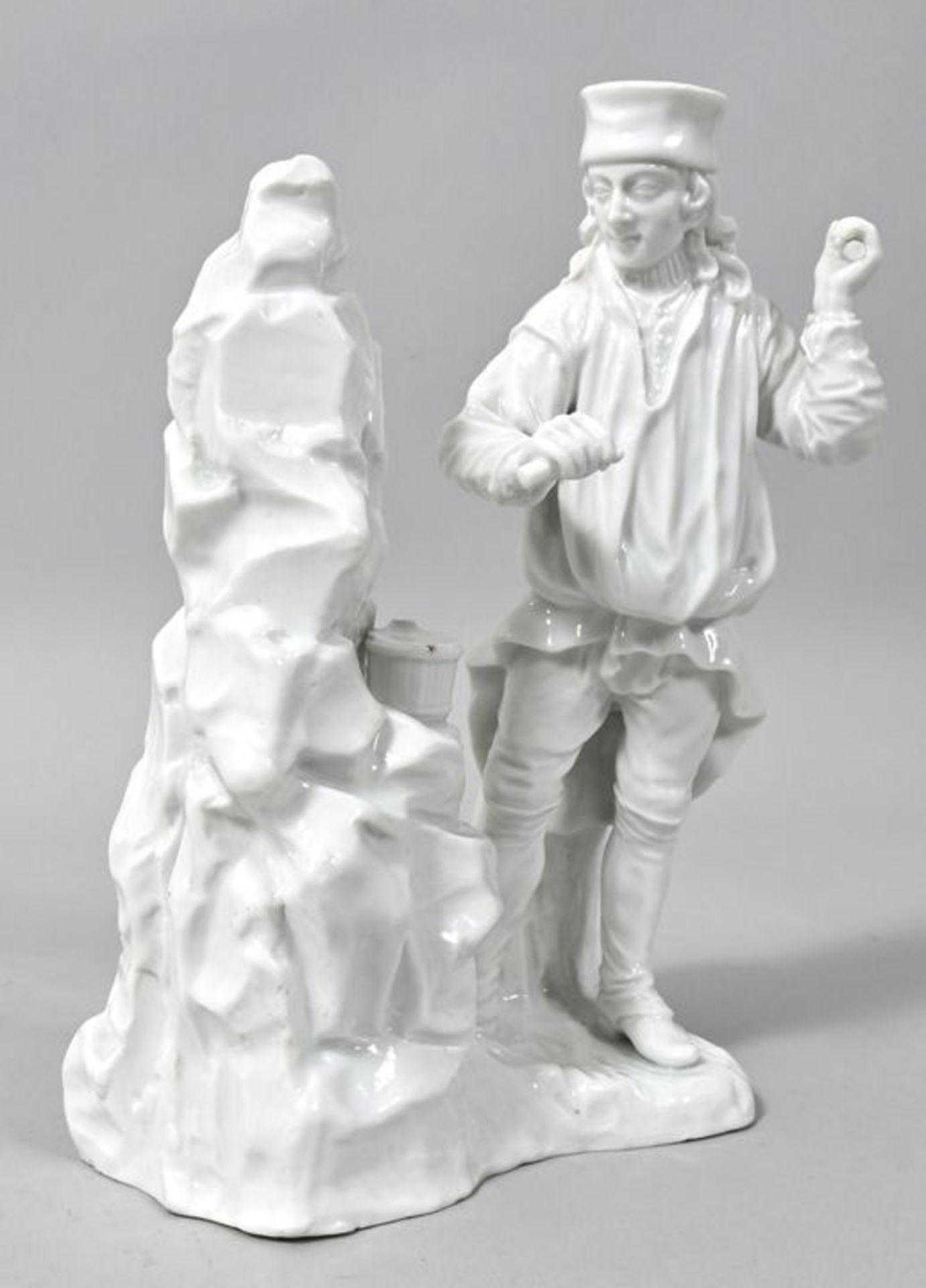 Porzellanfigur Einmannbohrer, Fürstenberg, 2. H. 18. Jh.Modell Simon Feilner, aus der Serie