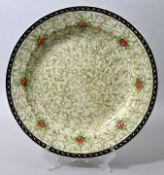 Große runde Platte, Dresden, Villeroy & Boch, um 1920/ 1930Steingut, marmoriertes Schablonen