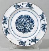 Teller, Meissen, 1774-1814 (Marcolini)Porzellan, glattrandige Form mit horizontal gestellter
