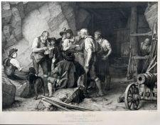 Langer, Theodor. 1819 Leipzig-1895 DresdenDie Tiroler Sensenschmiede vor dem Aufstand. Stahls