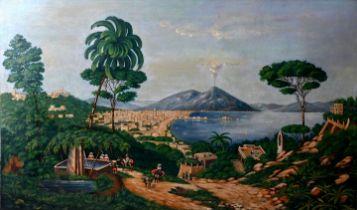 unbek. Gemälde, Bucht von Neapel / painting