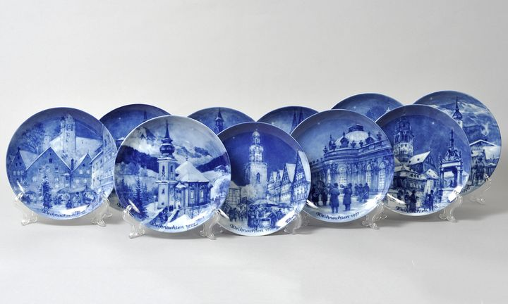 Zehn Weihnachtsteller / Ten christmas plates