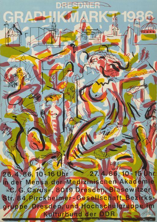 Andreas Dress ''Grafikmarkt'' 1986 / Andreas Dress lithograph