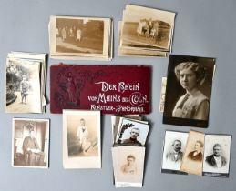 Konvolut Postkarten und Fotos / set of postcards