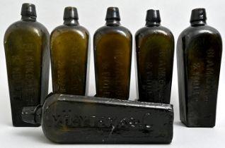 Konvolut von sechs Ginflaschen/Set of six gin bottles