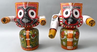 Paar Holzfiguren / Pair of wooden figures