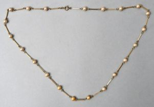 Kette Gold-Perlen / necklace