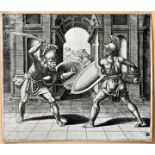 Maestro del Dado (Meister mit dem Würfel): Gladiatorenkampf Grafik / fighting gladiators