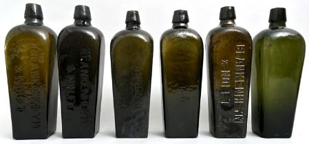 Konvolut von sechs Ginflaschen/Gin bottles