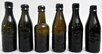 Konvolut von sechs Bierflaschen / Set of six beer bottles